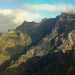 Montanhas da ilha da Madeira.